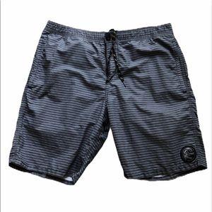 O'Neill grey striped board shorts